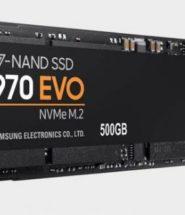 Хранение: Samsung 970 Evo 500GB M.2 SSD