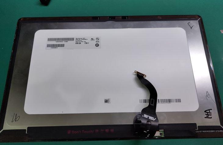 Asus UX490 черные полосы экрана на мониторе